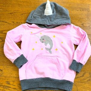 Girls narwhal sweatshirt
